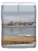 Time In New England Duvet Cover