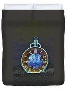 Time In The Sand In Negative Duvet Cover