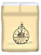 Time In The Sand In Sepia Duvet Cover