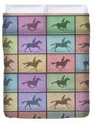 Time Lapse Motion Study Horse Color Duvet Cover