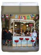 Time Out Snack Bar In Bath England Duvet Cover