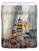 Time Square New York Duvet Cover
