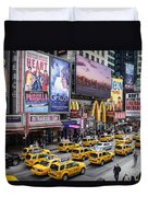 Time Square On A Week Day Duvet Cover