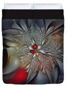 Timeless Elegance-floral Fractal Design Duvet Cover