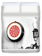 Times Red Duvet Cover