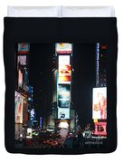 Times Square At Night Duvet Cover