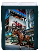 Times Square Horse Power Duvet Cover