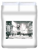 Times Square In The Snow - New York City Duvet Cover