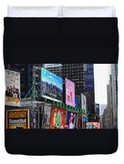 Times Square - Looking South Duvet Cover
