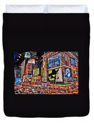 Times Square Duvet Cover by Randy Aveille