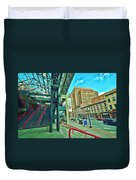 Times Union Stairwell Duvet Cover