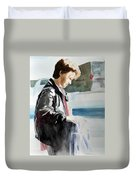 Tina - Light And Shadow Study Duvet Cover