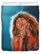 Tina Turner 3 Duvet Cover by Paul Meijering