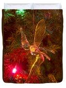 Tinker Bell Christmas Tree Landing Duvet Cover