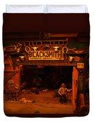 Tinkertown Blacksmith Shop Duvet Cover by Jeff Swan
