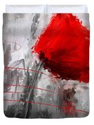 Tint Of Red Duvet Cover