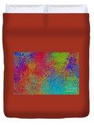 Tiny Blocks Digital Abstract - Bold Colors Duvet Cover