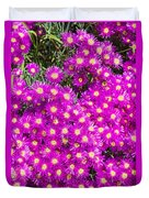 Tiny Dancer - Colorful Midday Flowers Lampranthus Amoenus Flower In Bloom In Spring. Duvet Cover