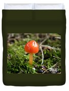 Tiny Orange Mushroom Duvet Cover