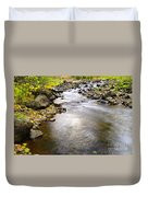 Tiny Rapids At The Bend  Duvet Cover