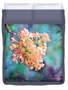 Tiny Spring Tree Blooms - Digital Color Change And Paint Duvet Cover