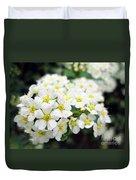 Tiny White Yellow Flowers Duvet Cover