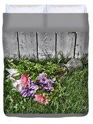 Tipsy Flowers Duvet Cover