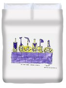 Tis Six Drunken Knights Duvet Cover