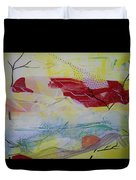 Tissue Paper Abstract 114 Duvet Cover