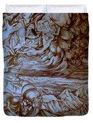 Titan In Desert Duvet Cover
