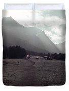 Titlis Fields And Farm Duvet Cover