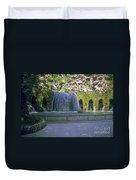 Tivoli Gardens Fountain And Pool Duvet Cover