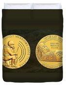 Tlingit Tribe Code Talkers Bronze Medal Art Duvet Cover