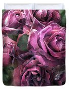 To Be Loved - Mauve Rose Duvet Cover
