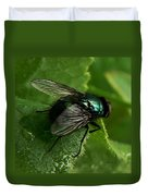 To Be The Fly On The Salad Greens Duvet Cover by Barbara St Jean