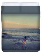 To Be Young Duvet Cover by Laurie Search
