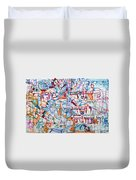 to speak of Your kindnesses in the morning and of your faithfulness in the nights Duvet Cover