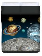 To The Moon And Beyond Duvet Cover