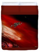 To The Planet's Surface Duvet Cover