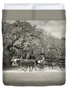 To The Stables Duvet Cover