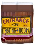 To The Tasting Room Duvet Cover