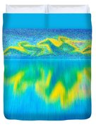 To West  Horses With Reflection Duvet Cover