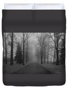 To Where It Leads  Bw Duvet Cover