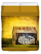 Tobacco Barn In Kentucky Duvet Cover