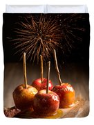 Toffee Apples Group Duvet Cover by Amanda Elwell