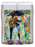 Together In The Rain  Duvet Cover