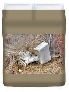 Toilet In The Weeds Duvet Cover