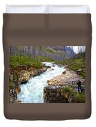 Tokuum Creek Flowing Into Marble Canyon In Kootenay Np-bc Duvet Cover