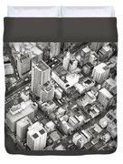 Tokyo City Black And White Duvet Cover