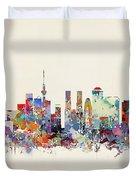 Tokyo Skyine Duvet Cover